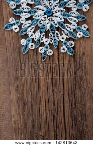 Snowflake Out Of Paper Quilling