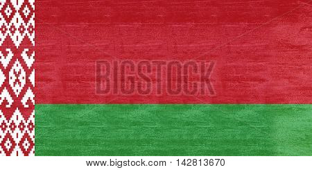 Illustration of the flag of Belarus Grunge