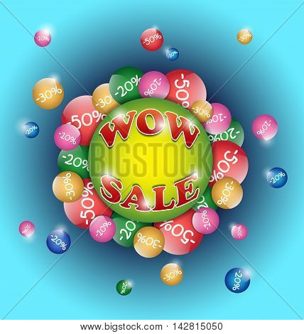 Sale poster isolated on a blue background