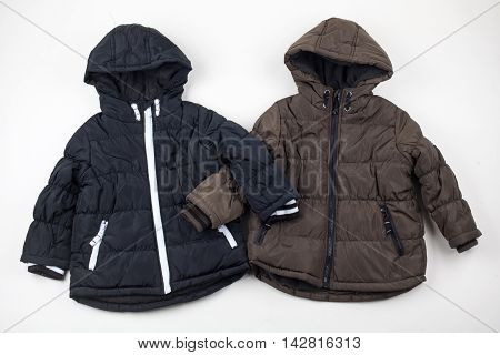 Two child warm jackets. Winter sesone clothes