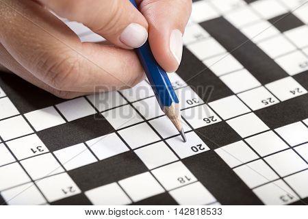 Solving Crossword Close up
