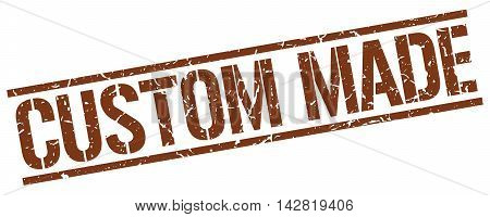 custom made stamp. brown grunge square isolated sign