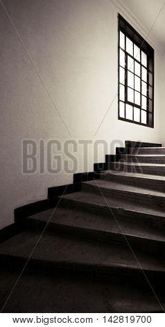 Stairs in vintage building