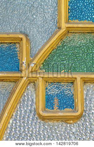 Detail of art nouveau style window