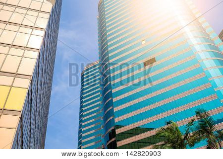 Business building to the sky