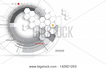 Dna Abstract Icon And Element Collection. Futuristic Technology Interface. Vector