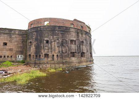 Fort Emperor Alexander I (Plague). Kronstadt. Russia.