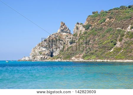 A cove with cliff in Calabria Italy