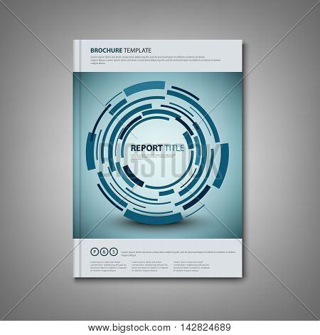 Brochures book or flyer with abstract technical rounds template vector eps 10