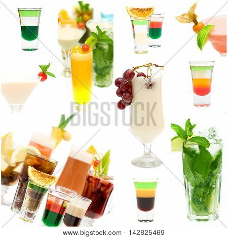 Cocktail party set - alcohol drink background