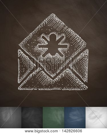 virus icon. Hand drawn vector illustration. Chalkboard Design