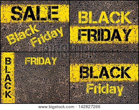 Retail Sales Conceptual Images With Black Friday Message