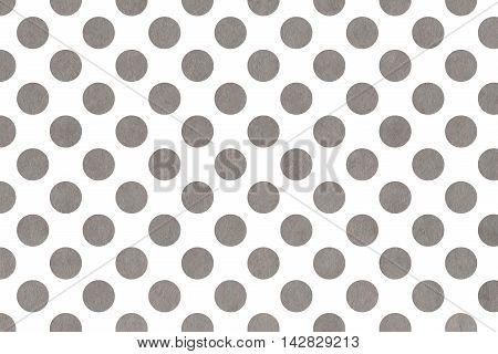 Watercolor Grey Polka Dot Background.
