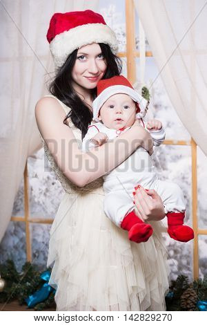 Pretty Woman Posing With Her Baby
