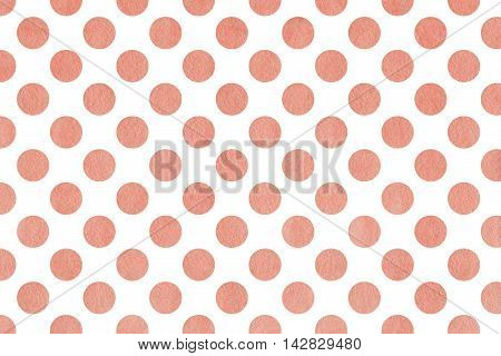 Watercolor Pink Polka Dot Background.