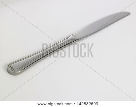 kitchenware knife on the white background