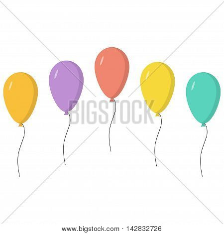 celebraition colourful ballons isolated in white background