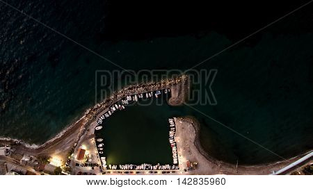 port of alepochori greece aerial from above