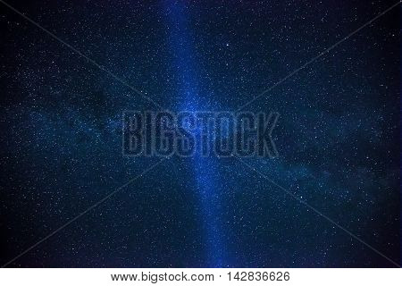 Colorful Space Shot Showing The Universe Milky Way Galaxy With Stars And Space Dust.