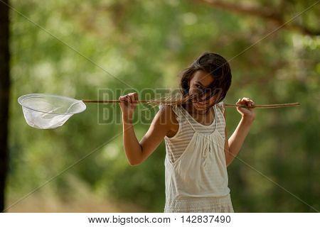 Young Girl Entomologist