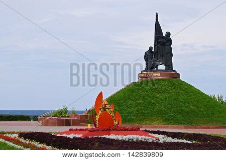 Victory Park, the city of Cheboksary, landscape, nature, view, monument, an eternal flame, decoration, horizon