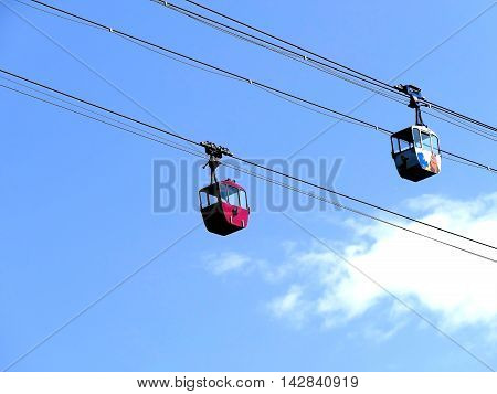 Cologne, Germany - September 12, 2015: Cologne Cable Car