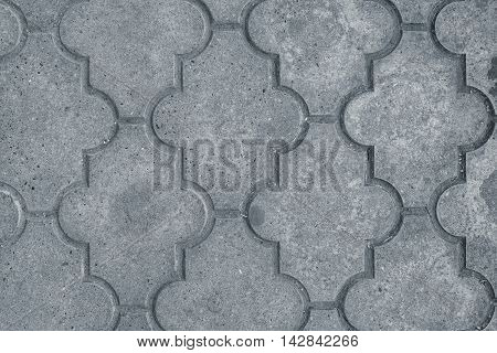 Decorative concrete slabs pavers texture top view