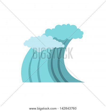 Sea or ocean wave icon in flat style on a white background