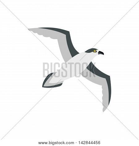 Sea gull icon in flat style on a white background