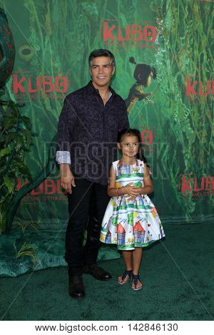 LOS ANGELES - AUG 14:  Esai Morales, Mariana Oliveira Morales at the