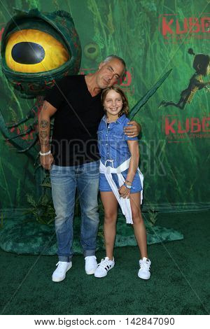 LOS ANGELES - AUG 14:  Cora Welliver, Titus Welliver at the