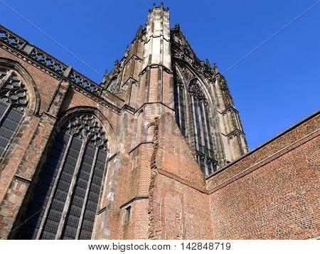 Utrecht, The Netherlands - February 27, 2016: Utrecht Dom Tower Church