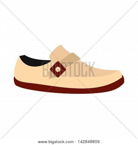 White shoe with red sole icon in flat style on a white background