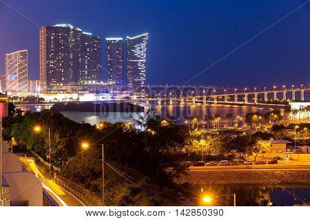 Macao city at night