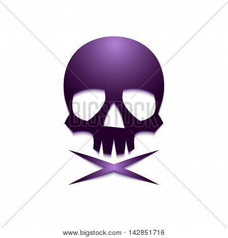 Violet Skull Crossbone-01