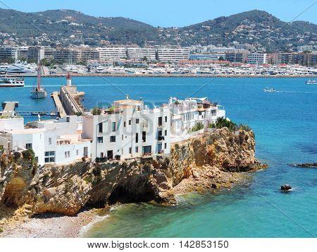 Sa Penya, famous district of Ibiza town.