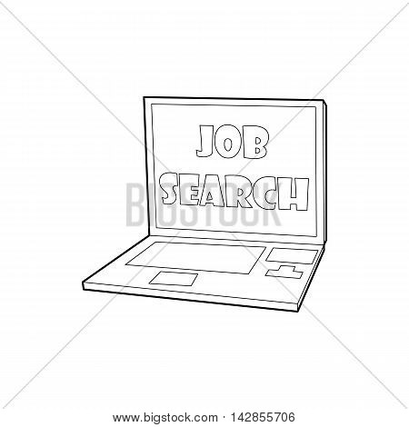 Search job icon in outline style on a white background
