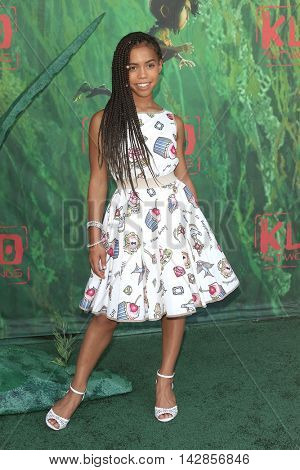 LOS ANGELES - AUG 14: Asia Monet Ray at the premiere of Focus Features' 'Kubo and the Two Strings' at AMC Universal City Walk on August 14, 2016 in Los Angeles, California