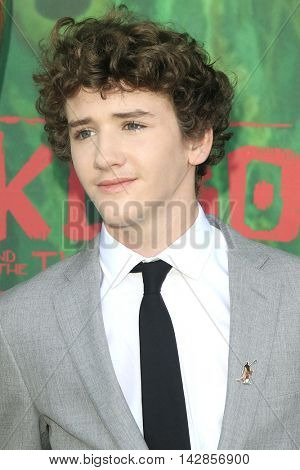 LOS ANGELES - AUG 14: Art Parkinson at the premiere of Focus Features' 'Kubo and the Two Strings' at AMC Universal City Walk on August 14, 2016 in Los Angeles, California