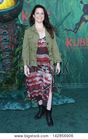 LOS ANGELES - AUG 14: Holly Marie Combs at the premiere of Focus Features' 'Kubo and the Two Strings' at AMC Universal City Walk on August 14, 2016 in Los Angeles, California