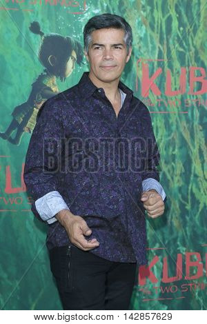 LOS ANGELES - AUG 14: Esai Morales at the premiere of Focus Features' 'Kubo and the Two Strings' at AMC Universal City Walk on August 14, 2016 in Los Angeles, California