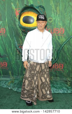 LOS ANGELES - AUG 14: Cary Hiroyuki Tarawa at the premiere of Focus Features' 'Kubo and the Two Strings' at AMC Universal City Walk on August 14, 2016 in Los Angeles, California