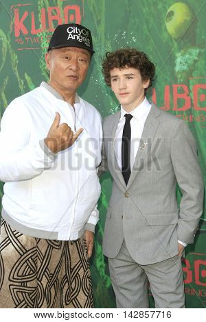 LOS ANGELES - AUG 14: Cary Hiroyuki Tarawa, Art Parkinson at the premiere of Focus Features' 'Kubo and the Two Strings' at AMC Universal City Walk on August 14, 2016 in Los Angeles, California
