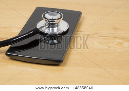 Smart Phone Being Checked For Virus