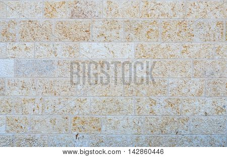 Wall From A White Brick Closeup