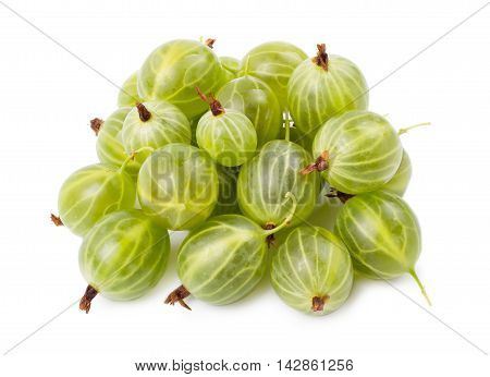 The ripe gooseberry isolated d d d