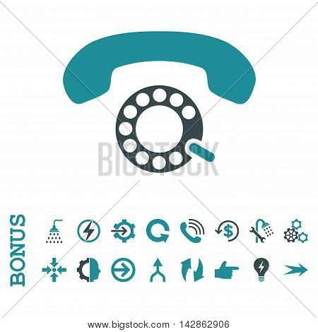 Pulse Dialing vector bicolor icon. Image style is a flat iconic symbol, soft blue colors, white background.
