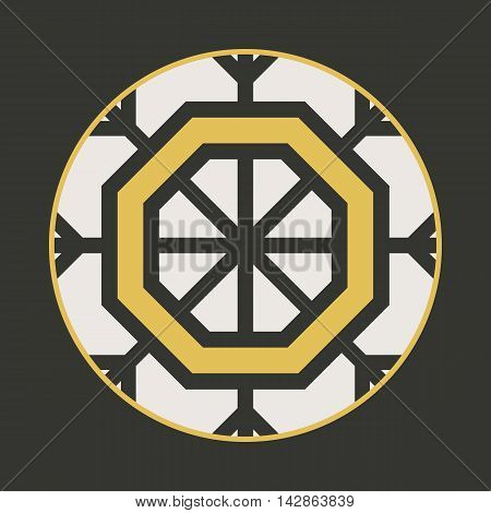 Traditional asian ornament. Vector arabic geometric symbol
