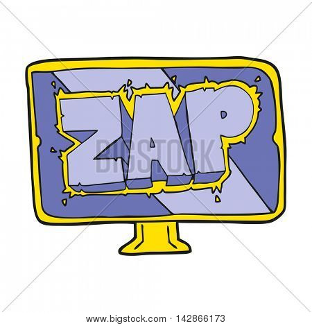 freehand drawn cartoon zap screen
