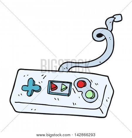 freehand drawn cartoon game controller